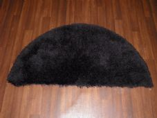 HALF MOON SHAGGY RUGS 60CMX120CM WOVEN REALLY GOOD QUALITY SUPER THICK BLACK NEW